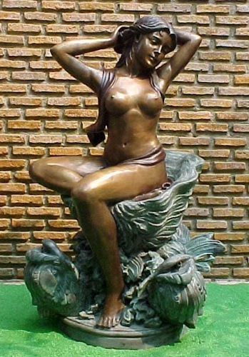 Bronze Nude Lady Fountain - PA F-1059