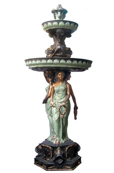 Bronze Classical Ladies Fountain - DD F-107