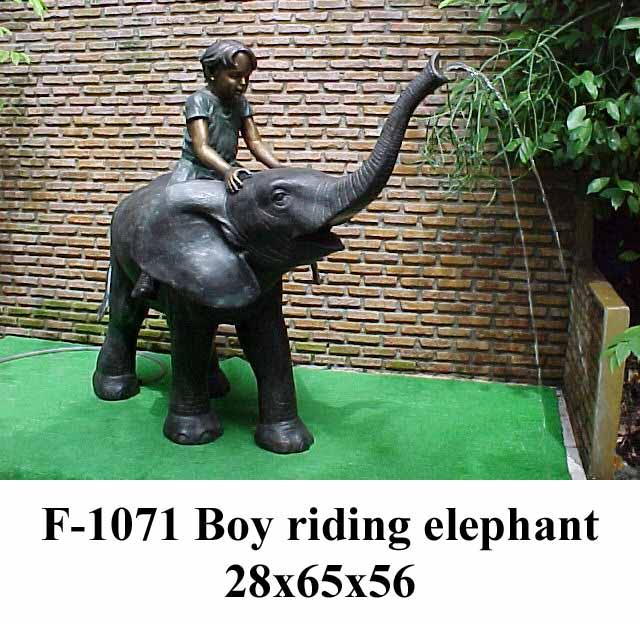Bronze Elephant Fountain
