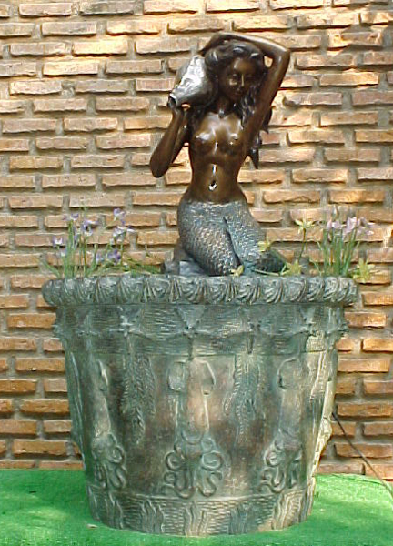 Bronze Mermaid Fountains | Bronze Mermaid Statues - PA F-1077