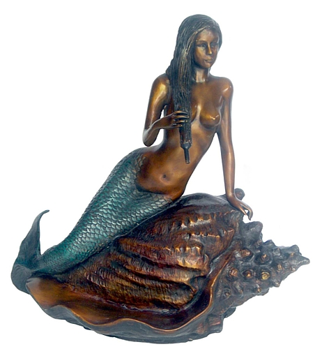 Bronze Mermaid Statue - DD F-111