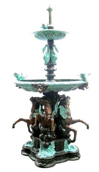 Bronze  Themed Horse Fountain - DD F-117
