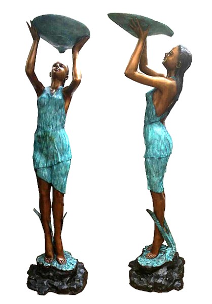 Bronze Lady Shell Statue - DD F-118-1