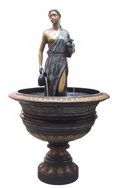 Bronze Lady Fountain - DD F-121