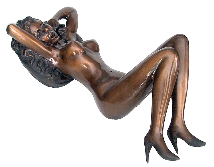 Bronze Erotic Nude Sculpture - CP FG0241