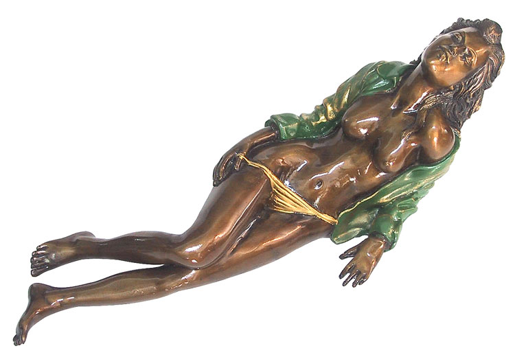 Bronze Erotic Nude Sculpture - CP FG0252
