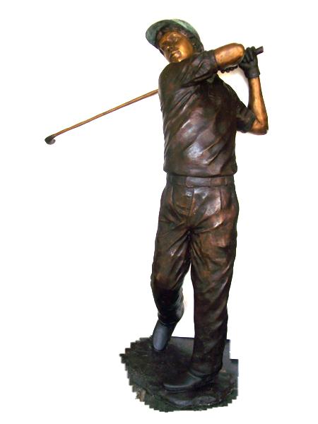 Bronze Golfer Statue - DD G-066