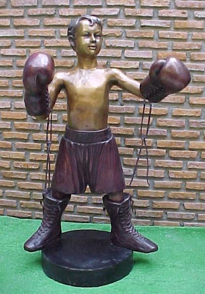 Bronze Boxer Boy Statue - PA G-1024
