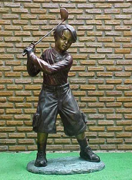 Bronze Golfer Boy Satue - PA G-1039