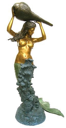 Bronze Mermaid Fountains | Bronze Mermaid Statues - KT J-8079-L