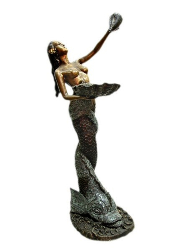Bronze Mermaid Fountains | Bronze Mermaid Statues - KT J-8088