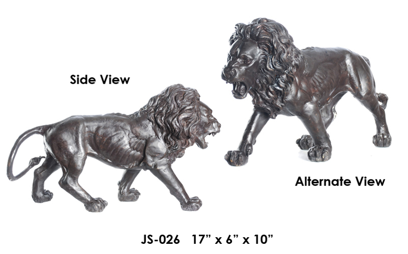 Bronze Lion Sculptures – (2019 Updated Prices) - ASI JS-026