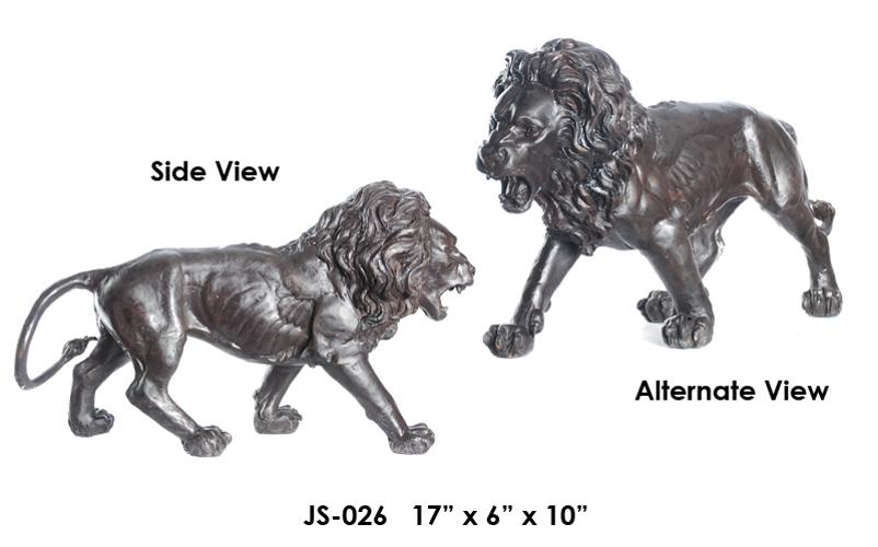 Bronze Lion Sculptures – (2019 Updated Prices) - ASI JS-026