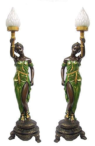 Bronze Ladies Lamps - DD L-1604