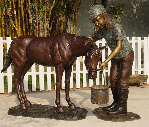 Bronze Horse Statues - KT P-735