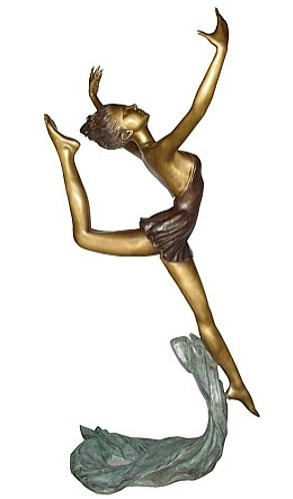 Bronze Lady Dancer Statue - KT P-792
