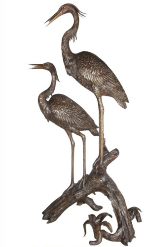 Bronze Heron Fountains - KT AP-800