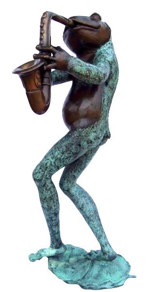 Bronze Frog Statue - KT P-840