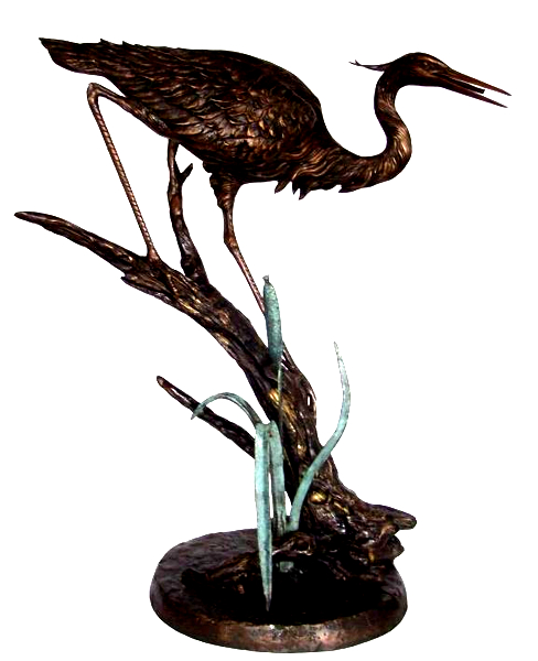 Bronze Heron Fountains - KT AP-845
