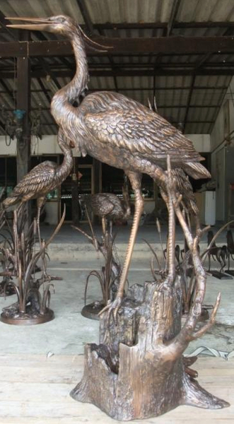 Bronze Heron Fountains - KT AP-868