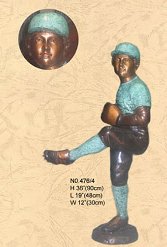 Bronze Baseball Pitcher Statue - KT 476/4