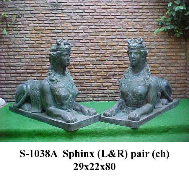 Bronze Sphinx Statue - PA S-1038A-S