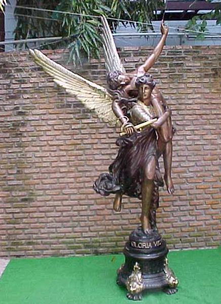 Bronze Lady Gloria Victis Statue