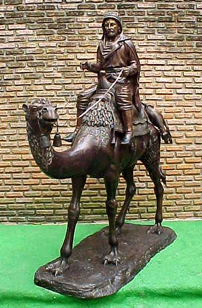 Bronze Arab on Camel Statue - PA S-1096