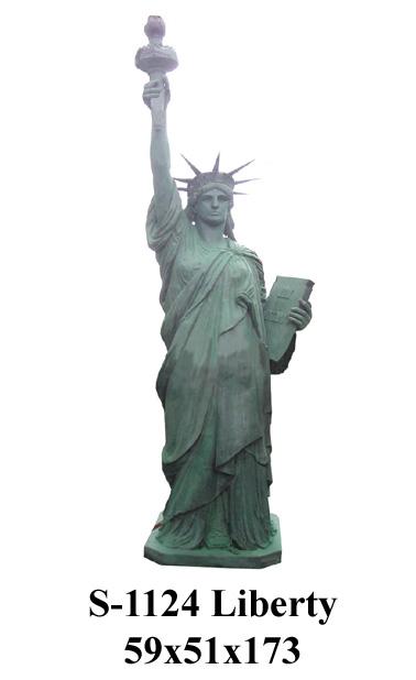 Bronze Statue of Liberty Fountain - PA F-1124-F