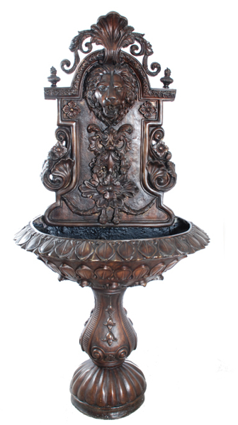 Bronze Cherub Wall Fountain - ASI SK-224A