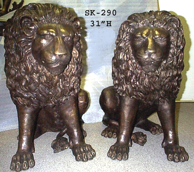 Bronze Lion Statues - ASI SK-290