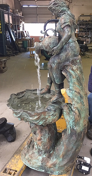 Bronze Lady Pitcher Fountain - ASI SK-479