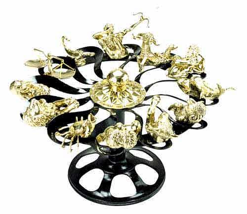 Bronze Zodiac Table - DK TB0148