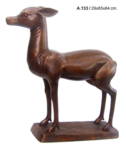 Bronze Fawn Statues - DD A-133