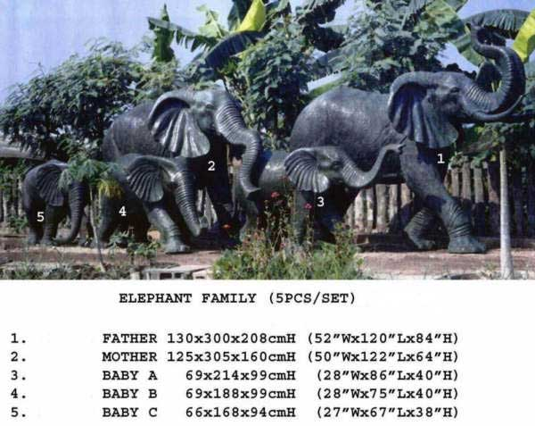 Bronze Elephant Statue - DD A-267