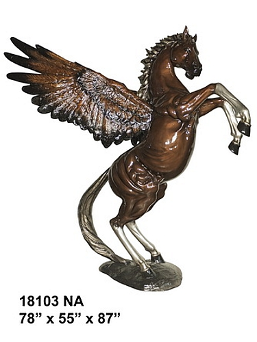 Bronze Pegasus Statue - AF 18103 NA