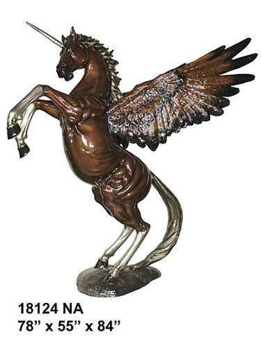 Bronze Unicorn Statues
