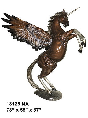 Bronze Unicorn Statues - AF 18125NA