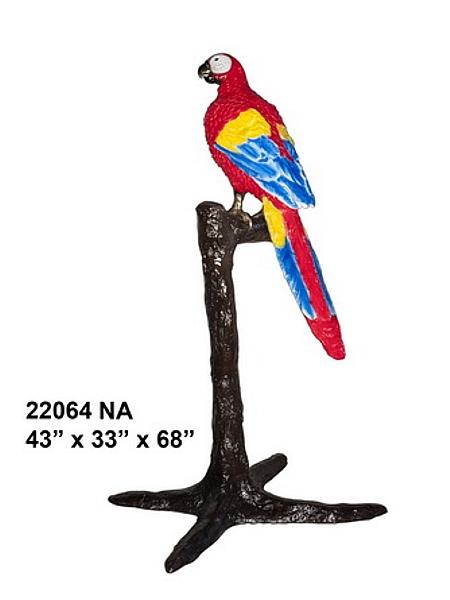 Bronze Parrot Statue - AF 22064NA