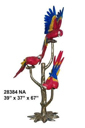 Bronze Exotic Birds Statue - AF 28384NA