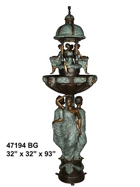Bronze Domed Ladies Fountain - AF 47194BG