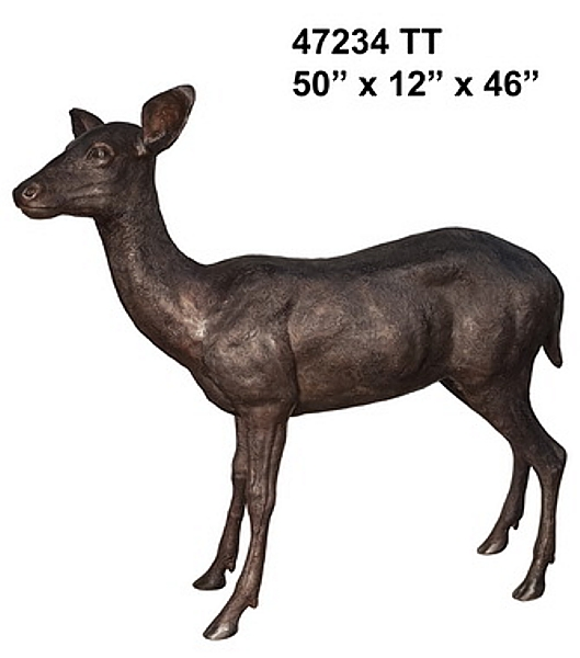 Bronze Deer Doe Statue - AF 47234TT