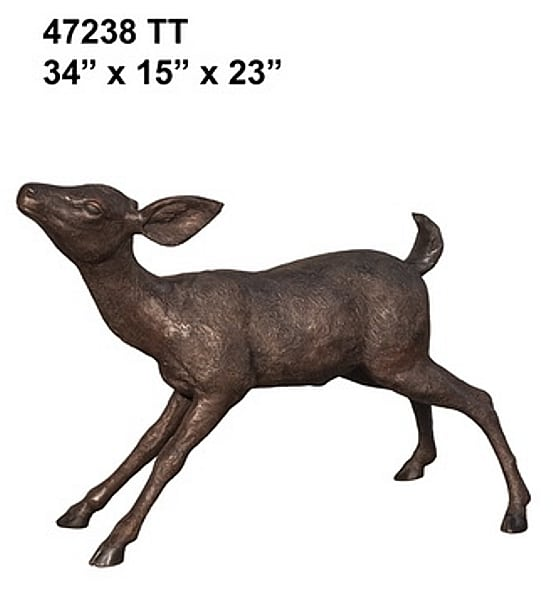 Bronze Deer Fawn Statue - AF 47238TT