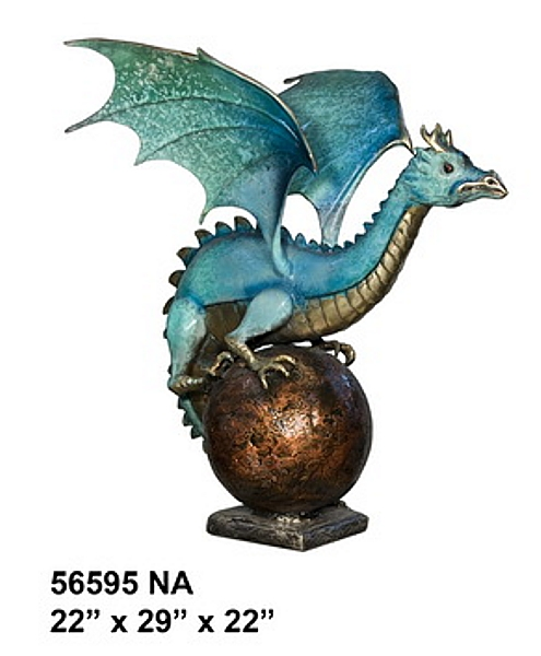 Bronze Dragon Fountains - AF 56595NA-F