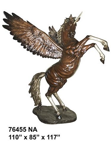 Bronze Unicorn Statue - AF 76455NA-Mascot
