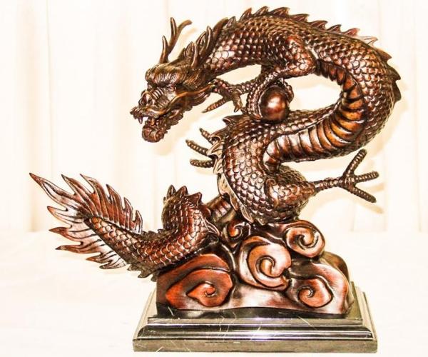 Bronze Dragon Statue - PA-444L