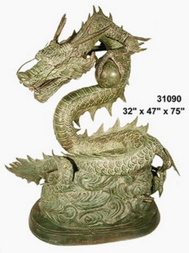 Bronze Dragon Water Fountains - AF 31090-F