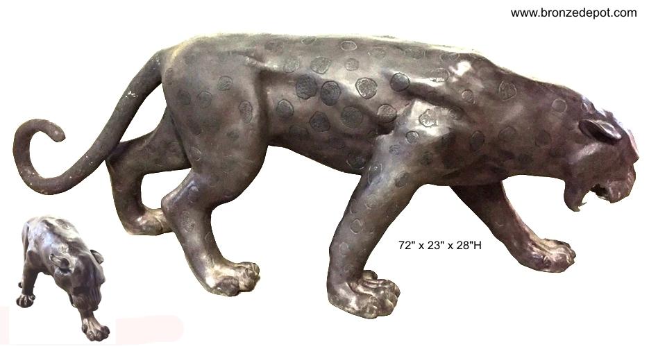 Bronze Leopard Statues - ASI 2175