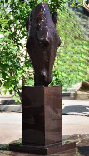 Bronze Horse Head Fountain/Statue - V-050