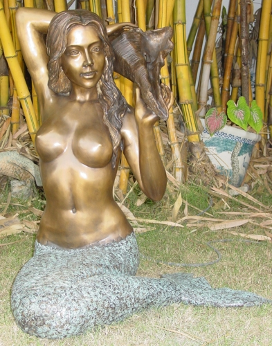 Bronze Mermaid Fountains | Bronze Mermaid Statues - KT AP 661